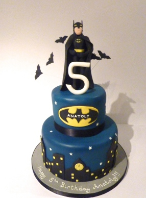 Batman 2 Tiered Cake